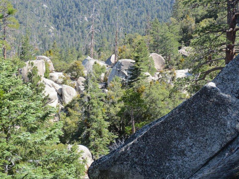Boulders galore.