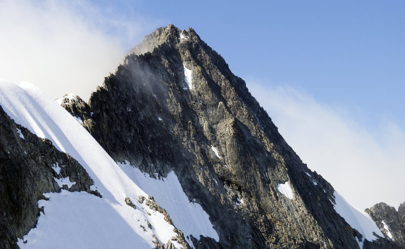 Rock Climbing Photo: Upper portion of the North Ridge and Forbidden's s...
