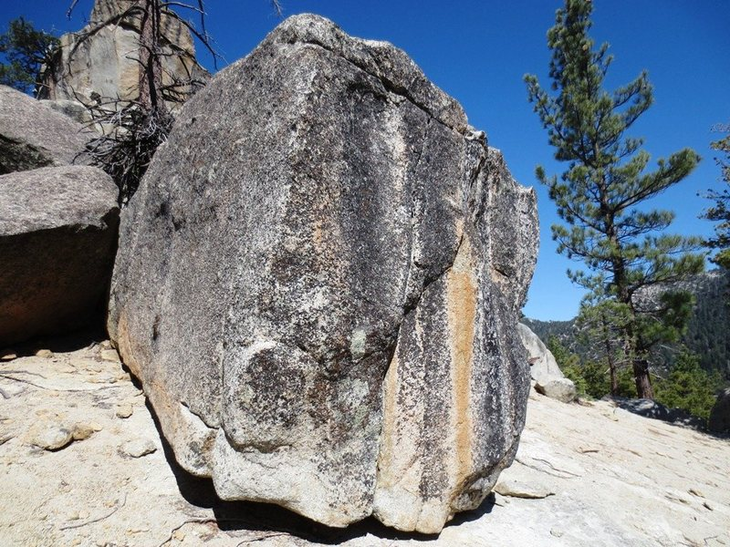 The blocky boulder.