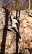 Rock Climbing Photo: There's a tiny rail to crimp on before the sloper ...