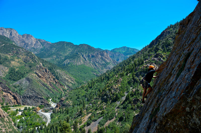 Rock Climbing Photo: Great views from the mellow climbs!