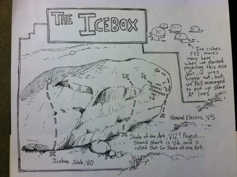 South Face of Icebox. State of the Art is dead center.