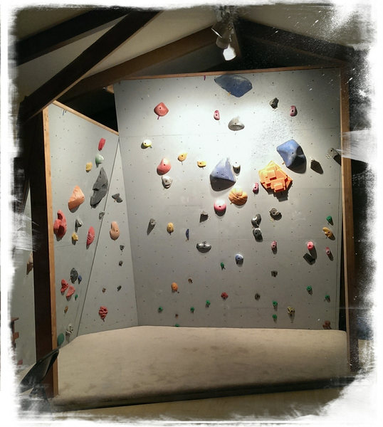 Rock Climbing Photo: My home wall in my living room.