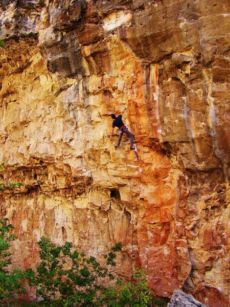Rock Climbing Photo: Jordon Griffler on the send of Map of Japan.