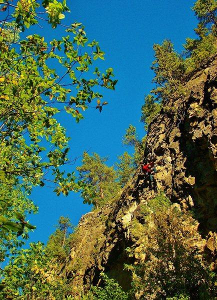 Rock Climbing Photo: Sweet 5.10. Suck it in.