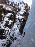 Rock Climbing Photo: Fun in the Ice Park. Thanks to the owner of Ouray ...