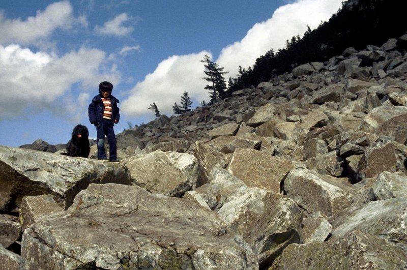 Scarf & I at White Rocks Mountain, Wallingford, VT c. 1984