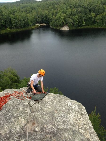 Facilitating a top rope program at Stonehouse Pond after a crag cleanup.