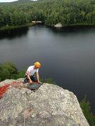 Rock Climbing Photo: Facilitating a top rope program at Stonehouse Pond...