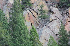 Rock Climbing Photo: The short 2nd pitch.