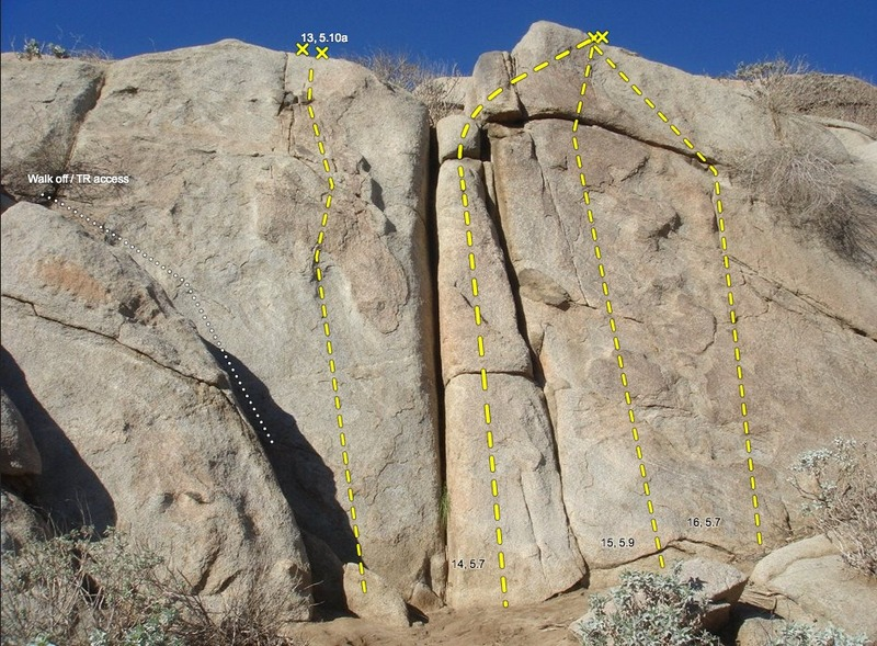 13: Cavity Search, 5.10a<br> 14: Garbage Can, 5.7/VB<br> 15: Cookie Monster, 5.9<br> 16: Ball Buster, 5.7