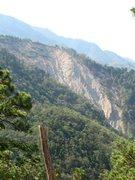 Rock Climbing Photo: A 500-foot landslide on the side of El Pital.