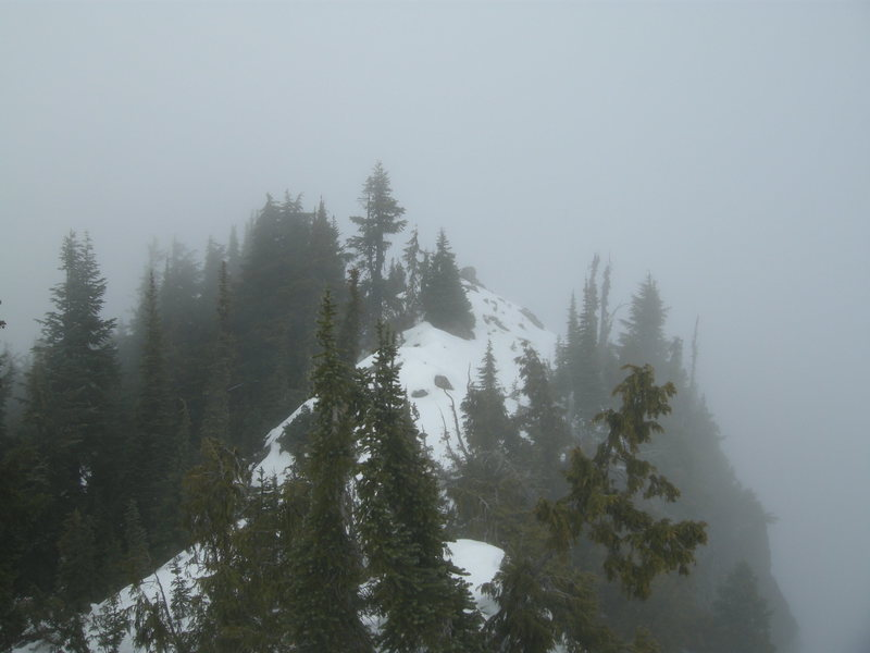 The summit on a cloudy day.
