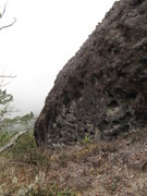 Rock Climbing Photo: This is just the top 5' of the rock; the ground dr...