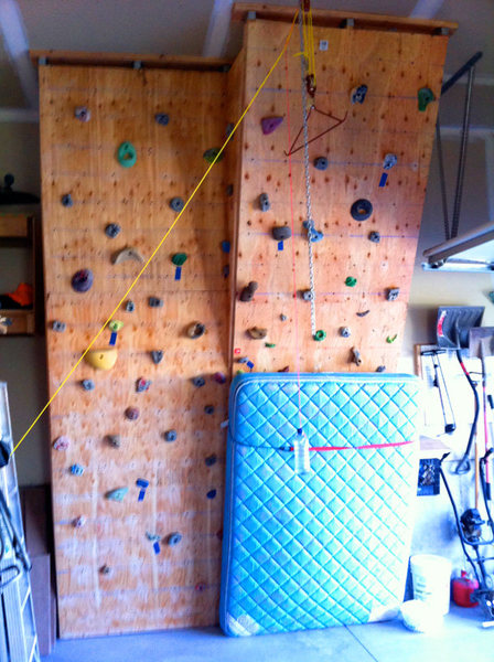 Rock Climbing Photo: wall in the garage... after hours