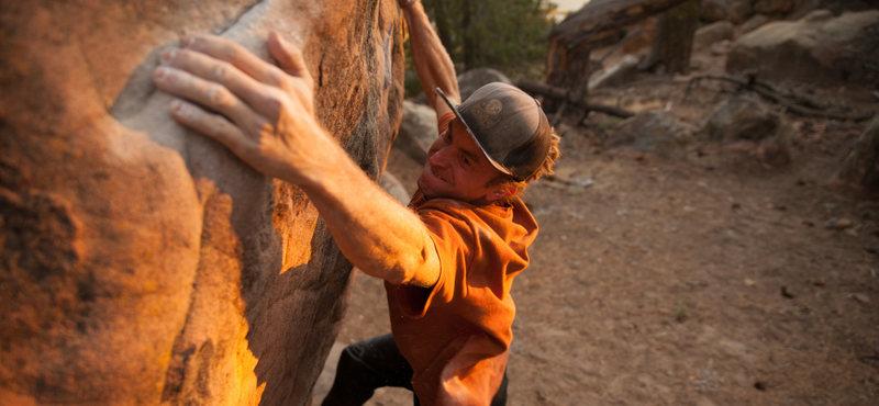 Rock Climbing Photo: Running a sunset lap on '911'.