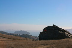 really fun boulder, Turtle Rock with San Francisco in the background