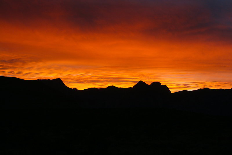 Rock Climbing Photo: Sunset from the road to the Red Rock Campground