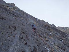 Rock Climbing Photo: Paul Gardner on P3.