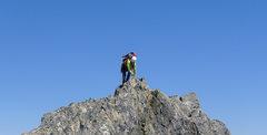 Scott Sampietro on the North Ridge