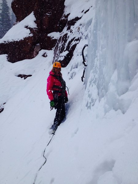 Rock Climbing Photo: Getting ready for the last pitch of Direct North F...
