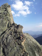 Rock Climbing Photo: Fast and light afternoon ascent of Blitzen ridge w...