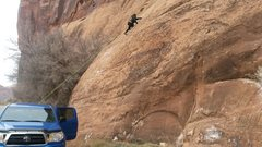 Rock Climbing Photo: I tried to get a good shot of the slope of the sla...