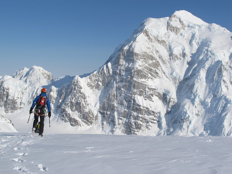 The pearl of the Alaska Range, Mount Hunter's North Buttress.