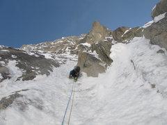 Rock Climbing Photo: Ryan in the Twin Runnels