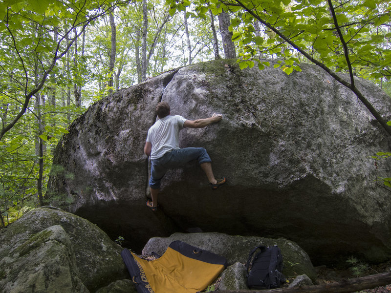 Set up and about to give it a huck. A fun, tragically short problem that is worthy of some more attention.