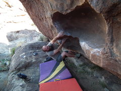 Rock Climbing Photo: Me on my first day at Hueco Tanks!