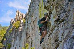 Rock Climbing Photo: Sendin' Seneca's Sevens