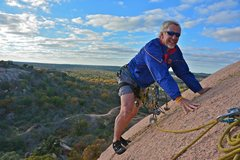 Rock Climbing Photo: My senior, smiling. (Enchanted Rock, TX)