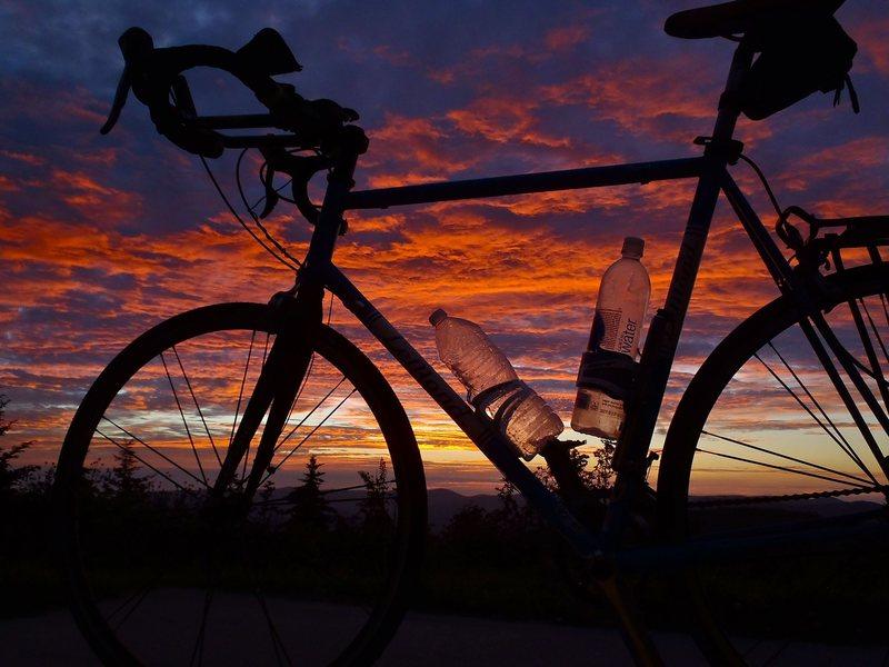 Blue Ridge sunrise, point and shoot (from my sleeping bag!)