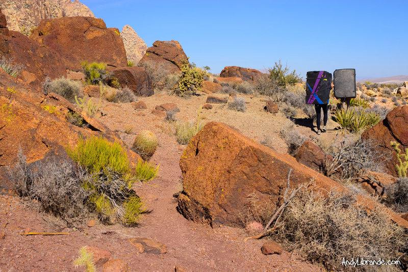 Hiking into Windy Canyon on a beautiful Fall day. <br> <br> Photo Date: November - 2013