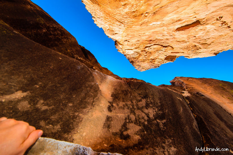 Rock Climbing Photo: The view from the start of Bait and Tackle. The ov...