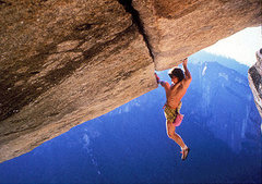 Rock Climbing Photo: Wolfgang Gullich soloing Separate Reality