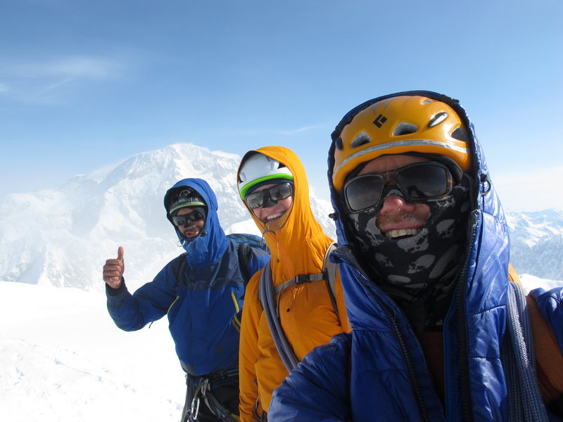 Mark, Vito and I on the summit of Mount Hunter after climbing the Bibler/Klewin.
