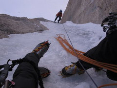 Rock Climbing Photo: Vito jugging up the Prow