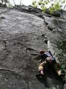 Rock Climbing Photo: Climbing the initial corner of Finger Stinger, May...
