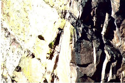 Rock Climbing Photo: Matt exiting the chimney. Belayed by legend Abrahm...