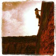 Rock Climbing Photo: Hand Solo, Selfish Wall, Indian Creek