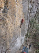 Rock Climbing Photo: I'm 99% sure this is Rebar / Chicken Wing. If not ...