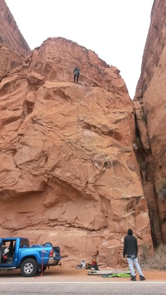 Rock Climbing Photo: Our first run up Potstash on Wall Street
