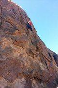 Rock Climbing Photo: Where the harder and fun climbing starts
