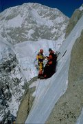 Rock Climbing Photo: Carl Tobin and I at the 3rd Ice Field bivy with  D...