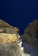 Rock Climbing Photo: Joe T  on the 1st pitch of the Shaft. Does it get ...