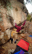 Rock Climbing Photo: The southwest arete moves. This is the spot where ...