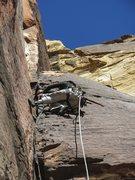 Rock Climbing Photo: Cassondra on Chicken Lips, p2.