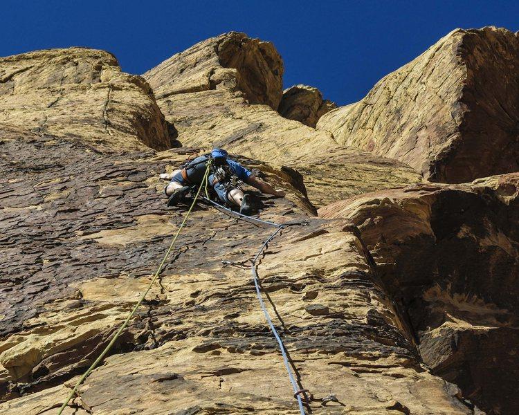 Rock Climbing Photo: Austin on Chicken Lips, p4.